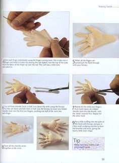 Introduction to Making Cloth Dolls - hands