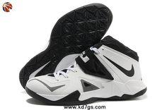White/Black-Metallic Silver 599263-100 Nike Zoom Soldier VII