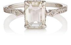 Cathy Waterman White Diamond & Platinum Ring at Barneys New York