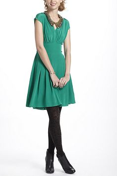Draped Tieback Dress #anthropologie