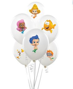 Bubble guppies balloon sticker INSTANT by MyHeartnSoulBoutique Bubble Guppies Decorations, Bubble Guppies Birthday, 3rd Birthday Parties, Baby Birthday, Birthday Ideas, Bubble Party, Party Items, Birthday Decorations, First Birthdays