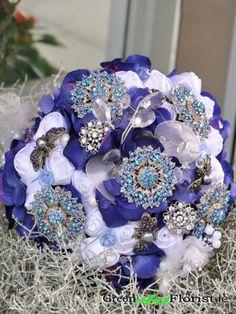 Brooch Bouquets, Blue Bridesmaids, Green Art, Artificial Flowers, Cobalt Blue, Dublin, Wreaths, Rose, Shop