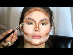 Contouring & Highlighting- Kim Kardashian's Makeup secret! - YouTube video by GlamHerBooth (Glamour Booth)