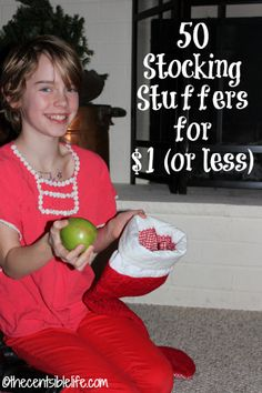 50 Stocking Stuffers for under $1-you're sure to find something for every stocking on this list of fifty ideas for under one dollar from CentsibleLife.com