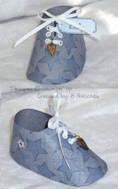 Baby Boy Paper Shoe Pattern...Click On Picture For Link To Pattern...