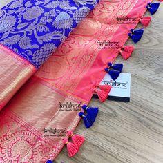 Saree Tassels Designs, Saree Kuchu Designs, Baby Frocks Designs, Saree Draping Styles, Wedding Silk Saree, Simple Sarees, Frock Design, Silk Thread, Baby Design