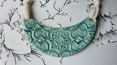 Collar Etnico Verde | Cerámica El Unicornio Loco