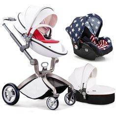 967.85$  Watch now - http://ali88z.worldwells.pw/go.php?t=32758334625 - Baby Stroller 3 in 1 for Newborn Infant Folding Pram Carriage (standard stroller+separate sleeping basket+safety car seat) 967.85$