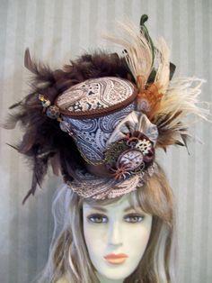 SALE Steampunk Mini Top Hat Cosplay Mini Top Hat Halloween Halloween Hats 24ee7b2cf2d8