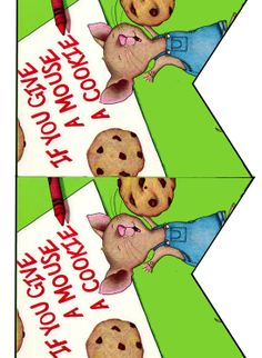 FREE If you give a mouse a cookie Birthday Party bingo, cupcake toppers, banner printable files