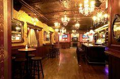 Bathtub Gin, 18th & 9th (NYC)  - hidden, yet loud & fun bar; entry behind a hidden door in a coffee shop