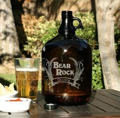 Personalized Beer Growler, Laser Etched