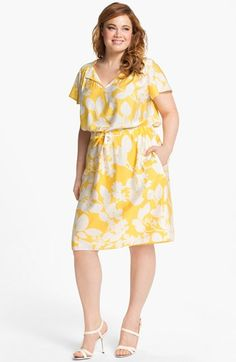 Adrianna Papell Print Shirtdress (Plus Size) | Nordstrom. cute plus size work dress