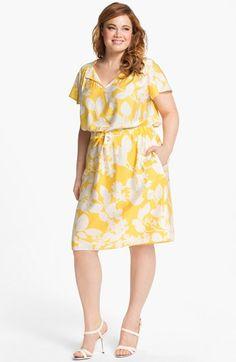 Adrianna Papell Print Shirtdress (Plus Size) | Nordstrom. cute plus size work dress