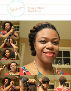 Simple Style: Halo Twist | Natural Hair Updo and Protective Style