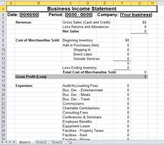 Simple Business Income Statement Template. Statement TemplateSmall  BusinessesTemplates
