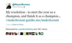 British footballers Jack Wilshere and Wayne Rooney recently tweeted about their resolution to #makeitcount, a new Nike campaign slogan.  However, in the process of making it count, they forgot to make it sponsored.