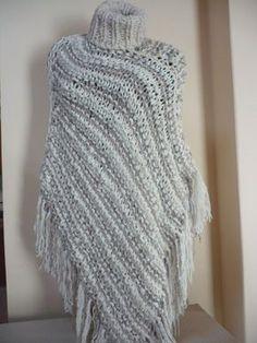 ponchos tejidos -