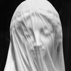 Antonio Corradinis Bust of a Veiled Woman [Puritas] (1717-25) a sculpture in marble at the Museo del Settecento Veneziano Venice.  #heroes by doingbird