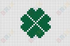 Four-Leaf Clover Pixel Art