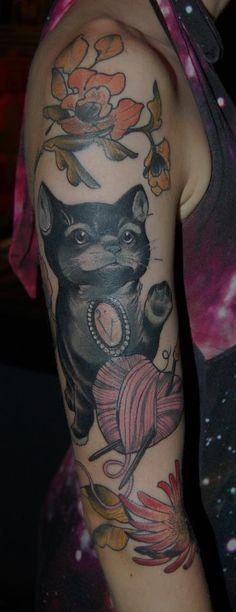 Cat tattoo - Tiny Miss Becca