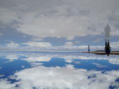 Mirror effect at the Salar de Uyuni.