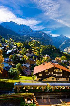 Wengen, Swiss Alps, Canton Bern, Switzerland -Blaine Harrington Photography