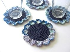 Love these crochet coasters.