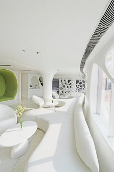 Modern Restaurant with White and Soft Organic Interior   The Smokehouse Room