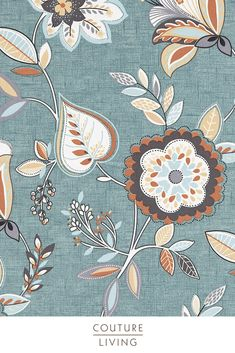 Octavia is a stunning collection from Clarke & Clarke, featuring bright flowers and plants to add a touch of summer to any home, seen here in Charcoal Chartreuse. Available as curtains or blinds, made to measure by Couture Living. Fabric Blinds, Curtains With Blinds, Curtain Fabric, Floral Curtains, Floral Fabric, Blackout Blinds, Floral Theme, Bright Flowers, Fabrics