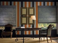 Designer Screen Roman Shades In The Office