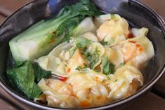 Scampi Wonton Suppe - Alt Asiatisk Wontons, Scampi, Cabbage, Soup, Vegetables, Ethnic Recipes, Cabbages, Vegetable Recipes, Soups
