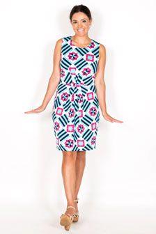 Kylie Sleeveless Pleated Dress