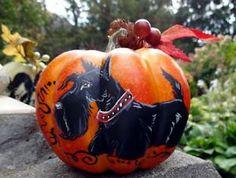 Scottish Terrier Autumn Decorative Pumpkin