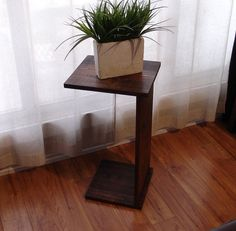 hmmmm... call me cray, but I'm pretty sure I could make this...  Sofa Chair Arm Rest TV Tray Table Stand by KeoDecor on Etsy