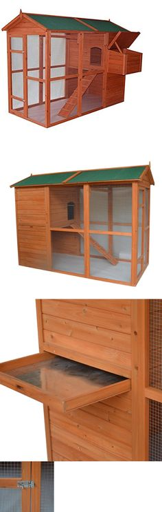 Cages and Enclosure 63108: Large Backyard Chicken Coop Rabbit Hutch W/Run Animal Cage Outdoor Pet Supplies BUY IT NOW ONLY: $530.3