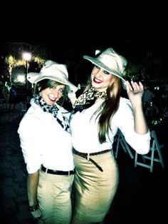 National Sales Associates Sophia and Juliette sporting safari outfits for the #costume party at a trade show! Cute for #halloween too!