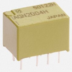 Panasonic Low Profile Automation Control 1A 4.5VDC DPDT NON-LATCHING PCB Low Signal Relays - AGN2004H. Telecom Signal Relays, PCB Mount Signal Relays, Panasonic AGN Series PCB Signal Relays. Also see the parts AGN20012, AGN20024, AGN20006, AGN20009 and more.