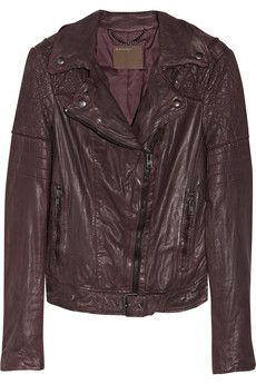 Muubaa Minsk quilted washed-leather biker jacket | THE OUTNET