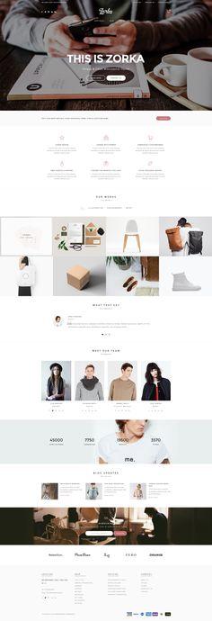 Zorka - An intuitive fashion PSD template