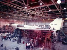 XB-70 Valkyrie being assembled