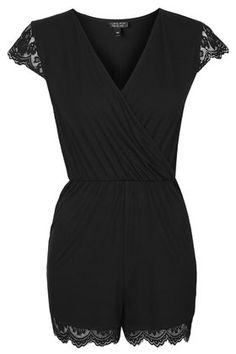 i love the lace! Lace Cap Sleeve Playsuit