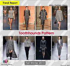 Houndstooth Check Pattern #Trend for Fall Winter 2013 #mfw
