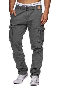INDICODE William Herren Cargohose inkl. Gürte Pants Iron XL  Amazon.de   Bekleidung 3d3864589befd