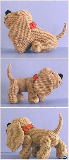 Free Knitting Pattern For A Loyal Puppy Knitting Pinterest