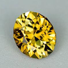MJ829 - 2.14ct golden Chrysoberyl - Tanzania 8.45 x 7.01 x 5.18 mm clean, custom cut, $375 shipped