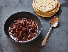Chili con carne med majs- og hvedetortillas