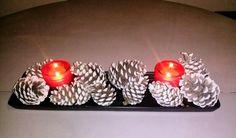 Pinecone easy & cheap christmas decor