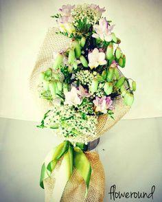 #green #bouquet #kalanchoe #cutflowers