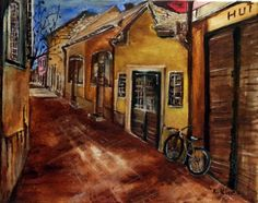 Egri utca. ( Hibay Károly ). Techno, Utca, Art, Art Background, Kunst, Performing Arts, Techno Music, Art Education Resources, Artworks